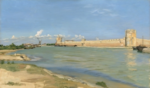 17_Bazille_Les_Remparts_d_Aigues_mortes_Washington