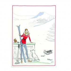 top mademoiselle au ski s 39 invite avec brio chez bouchara sant et vie pratique. Black Bedroom Furniture Sets. Home Design Ideas