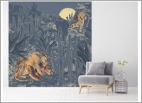 decor_mural_felins2_bleu_mapping
